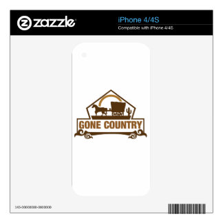 Gone Country - Country Living Decal For The iPhone 4S
