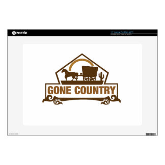 """Gone Country - Country Living Decals For 15"""" Laptops"""