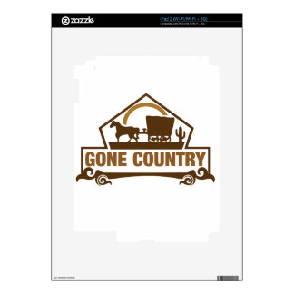 Gone Country - Country Living iPad 2 Decal