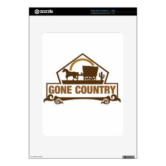 Gone Country - Country Living iPad Decal