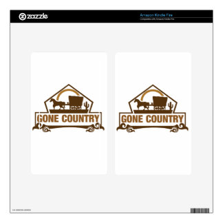 Gone Country - Country Living Kindle Fire Skin