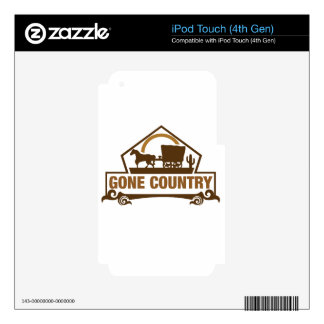 Gone Country - Country Living Skins For iPod Touch 4G