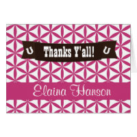 Gone Country Girl Shower Thank You Notes Card