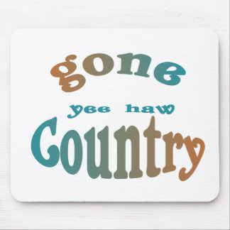gone country yeehaw mouse pad