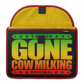 GONE COW MILKING - Love Raw Milk & Cattle Farming Sleeves For MacBook Pro