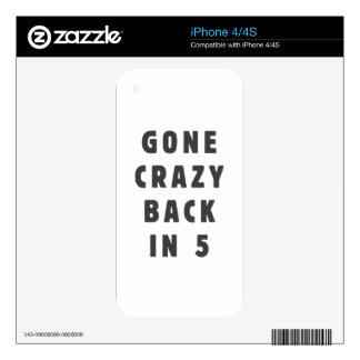Gone crazy, back in 5 skins for iPhone 4S