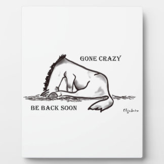 Gone Crazy - Be back soon Plaque