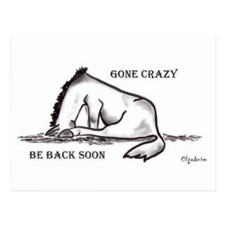 Gone Crazy - Be back soon Postcard