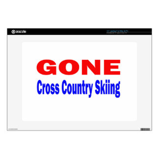 Gone Cross Country Skiing. Skins For Laptops