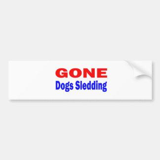 Gone Dogs Sledding. Car Bumper Sticker