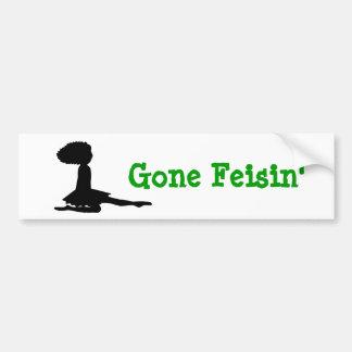 """Gone Feisin"" Irish Dance Bumper Sticker"