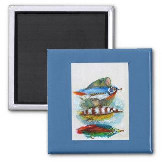 Gone Fishin 2 Inch Square Magnet