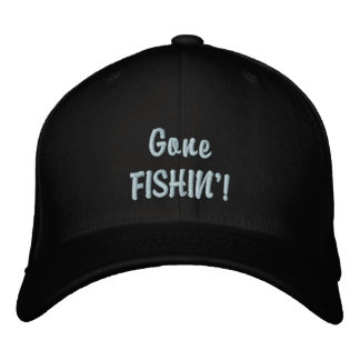 Gone Fishin' Anglers CAP Embroidered Hats