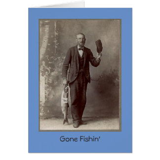 gone fishin card