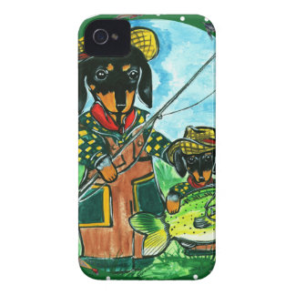 Gone Fishin Dachshunds iPhone 4 Cases