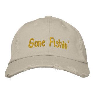 Gone Fishin' Embroidered Baseball Cap