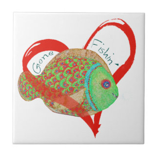 Gone Fishin' Gifts and apparel Tiles
