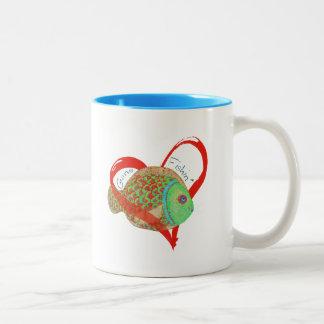 Gone Fishin' Gifts and apparel Two-Tone Coffee Mug