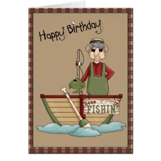 Gone Fishin Happy Birthday Greeting Card