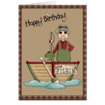 Gone Fishin Happy Birthday Greeting Greeting Card
