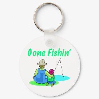 Gone Fishin' Keychain keychain