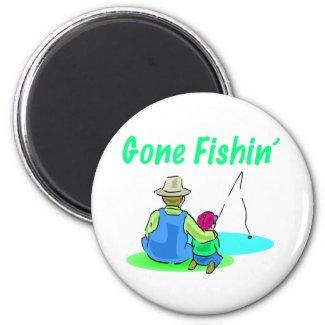 Gone Fishin' Magnet magnet