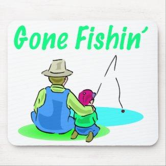 Gone Fishin' Mousepad mousepad