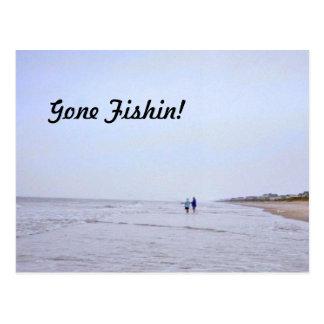 Gone Fishin! Postcard
