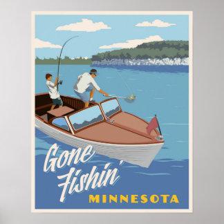 Gone Fishin Poster