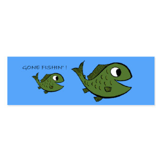 Gone Fishin'  Profile Card - Customized Double-Sided Mini Business Cards (Pack Of 20)