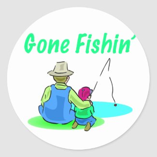 Gone Fishin' Sticker sticker