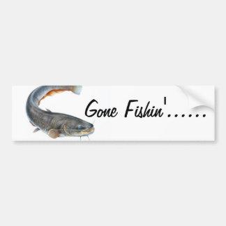 """gone fishin"" sticker"