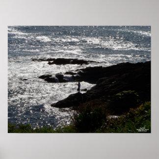 """Gone Fishin'–The Rugged Oregon Coast II"" Poster"