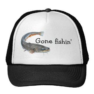 """""""gone fishin'"""" trucker hat"""