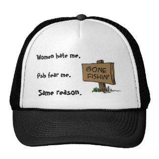 gone-fishin trucker hat
