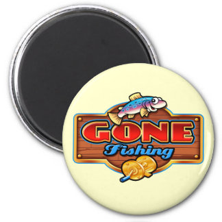 GONE FISHING 2 INCH ROUND MAGNET