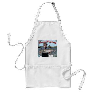 gone fishing adult apron