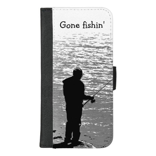Gone Fishing at Lake iPhone 8/7 Plus Wallet Case