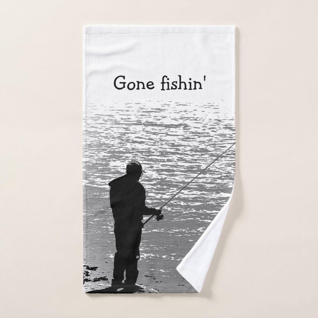 Gone Fishing at the Lake Set of Bath Towels