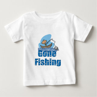 Gone Fishing Baby T-Shirt