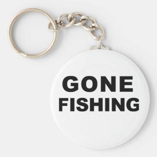 Gone Fishing Basic Round Button Keychain