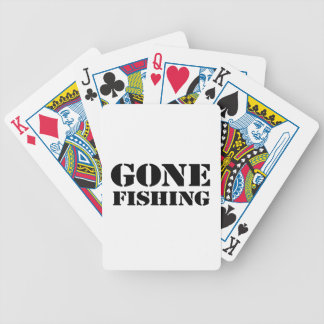 Gone Fishing Bicycle Playing Cards