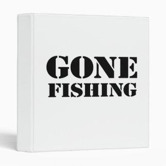 Gone Fishing 3 Ring Binder