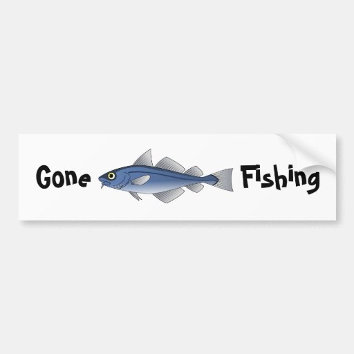 Gone fishing bumper sticker zazzle for Fishing car stickers