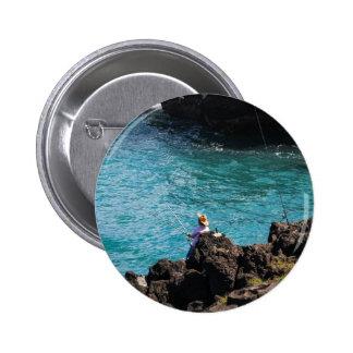 Gone Fishing Pinback Buttons