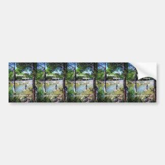 Gone Fishing Card Bumper Sticker