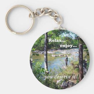 Gone Fishing Card Keychain