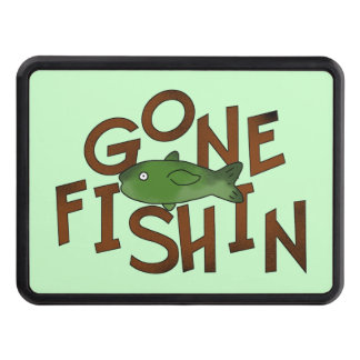 Gone Fishing cartoon Hitch cover