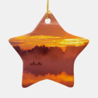 Gone Fishing Ceramic Ornament