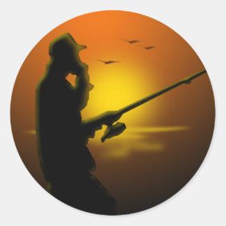 Gone Fishing Classic Round Sticker